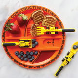 Construction Cutlery + Plate Set - 4 Piece