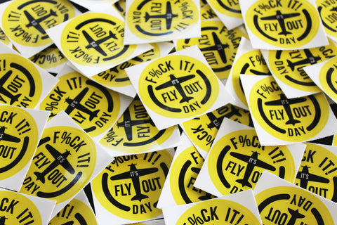 Fly Out Day Plane - Hardhat Sticker (5 Pack)