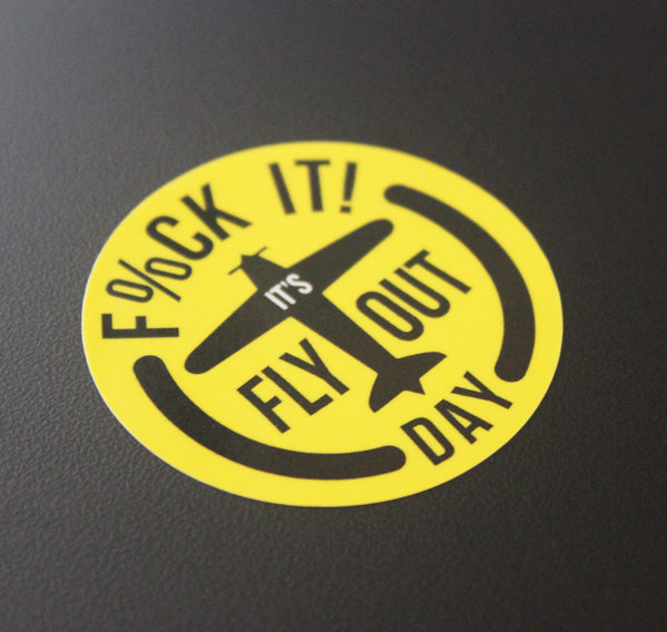 Fly Out Day Plane - Hardhat Sticker