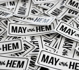 MAY-HEM Number Plate - Sticker (Single)