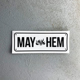 MAY-HEM Number Plate - Sticker (5 Pack)
