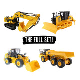 SET OF 4 x CAT Remote Controlled Machines - 1:24 Scale + 4 x FREE STICKER PACKS