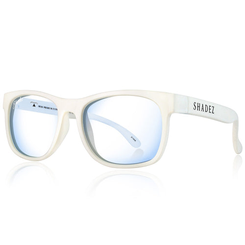 Blue Light Glasses Adult - White