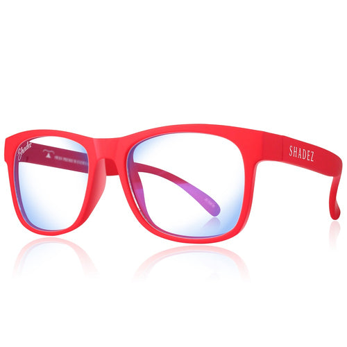 Blue Light Glasses Adult - Red