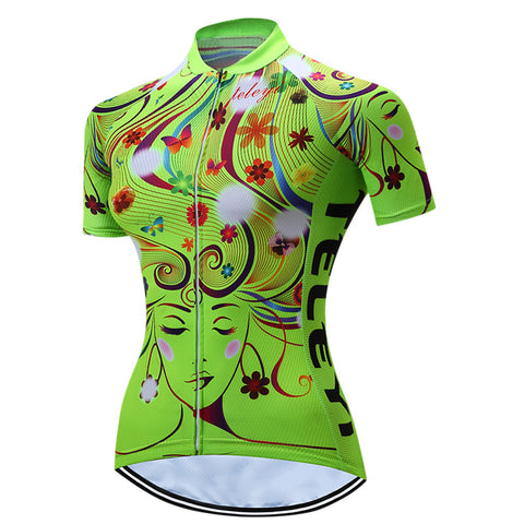 Women Bike Team Top Cycling Jersey