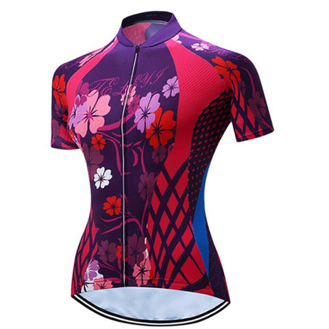 Teleyi 2017 Cycling Jersey Bicycle Short Bike Cycle Wear Women's Sports Sleeve Shirt Top Cycling Jersey Ciclismo bicicleta