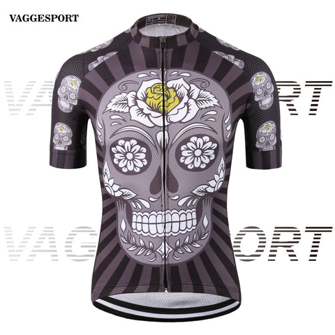 Black short sleeve bike clothes