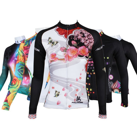 Plus Size Women Long Sleeve Cycling Sport Clothing