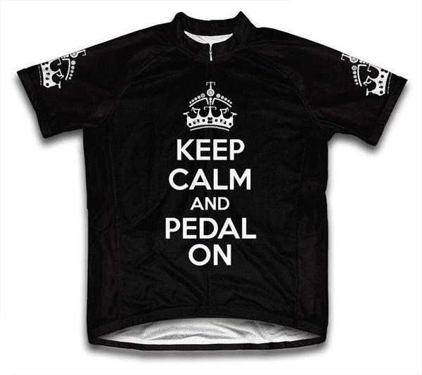 Keep Calm and Pedal On Men Cycling Jersey Short Sleeve bike bicycle jerseys ropa ciclismo 5 Color