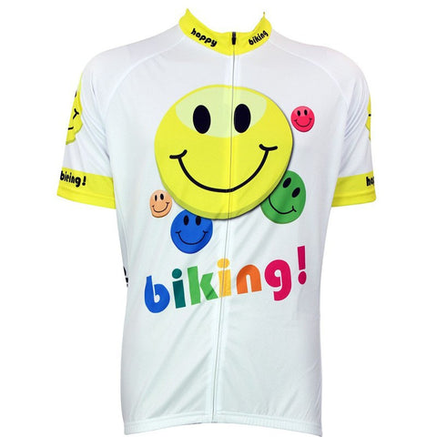 brand pro cycling wear maillot  Four seasons suitable for white cartoon images ropa de Short-sleeved Menbicycle clothing