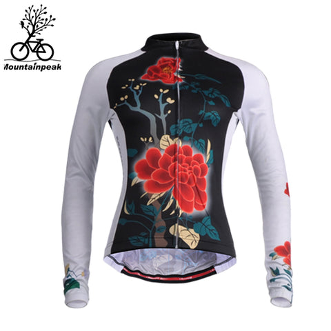 Mountainpeak 2017 Quick Dry Cycling Jersey Long Sleeve Women Summer Autumn Breathable Anti-sweat Outdoor Sport Coat Clothing New