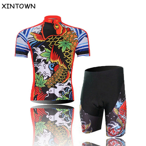 Colorful Team Cycling Bike Bicycle Clothing Bib shorts Sets Clothes Cycling Jersey Jacket Cycling Jersey Top Bicycle Shirts