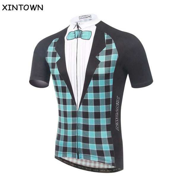 XINTOWN Gentleman Bike T-shirt Cycling Equipment Bicycle clothing Quick Dry Mans Cycling jersey Top Summer Jerseys Size S-5XL