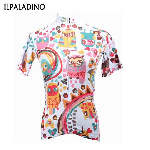 ILPALADINO Woman Jersey The owl printing pattern Roader bike Bicycle cycling Jersey Anti-Piling Clothing Bicycle Clothes