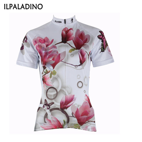 ILPALADINO cycling jersey outdoor female clothes woman Sport wear Breathable bike bicycle full zipper summer jersey anti-shrink