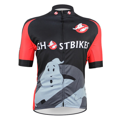 2016 New Mens Ghost Cartoon Bicycle Cycling Jersey Summer Funny Bikes Shirt Cool Fabric Clothing Breathable Cycling Clothes
