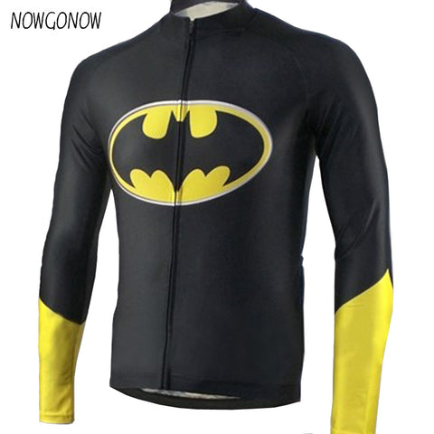 2017 spring Cartoon Cycling Jersey Men long sleeve black bicycle Clothing Bike/Road Bike Wear Breathable Ropa ciclismo maillot