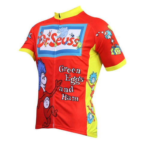 Cartoon Pattern Bike Clothing Bicycle Clothes Cycling Jersey ShortSleeve Bike Clothing Sport Riding Breathable Bicycle Shirt