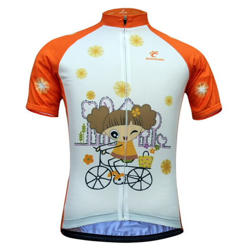 Women Cycling Jersey New Cartoon Bike Jersey Breathable Short Sleeve Summer Cycling Top Outdoor Sports Wear With 6 Size