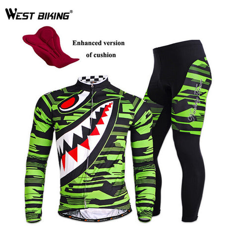 WEST BIKING Waterproof Riding Bike Jacket Pants Suit Breathable Gel Padded MTB Road Bicycle Jerseys Cycling Jersey Clothing