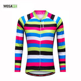 WOSAWE 2017 New Long Sleeve Cycling Jersey Women Autumn Breathable Mtb Cycling Clothing Bicycle Maillot Ciclismo Bike Clothes