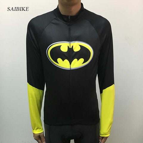 batman cycling jersey Long Sleeves mountain bike cycling clothing Spring Autumn road bicycle MTB bike wear breathable clothes