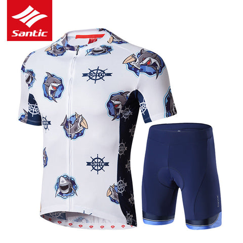 Santic Cycling Jersey Set Summer Short Sleeve Men Tour De France Bike Jersey Set 4D Padded Road Bicycle Jersey Cycling Clothing