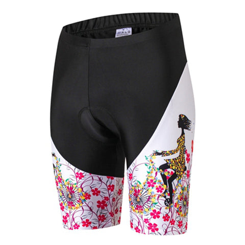 Women's Girls Sportswear Pro Cycling Shorts Underwear Gel 3D Pad MTB Bike Bicycle Riding Shorts Breathable Racing Shorts