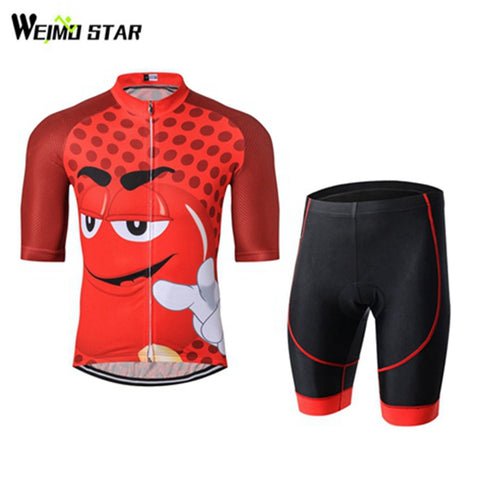 Weimostar Cycling Jersey set Ciclismo 2017 pro team Cycling clothing mtb Bike Shirts Red Cycle jersey shorts/Bib Shorts set