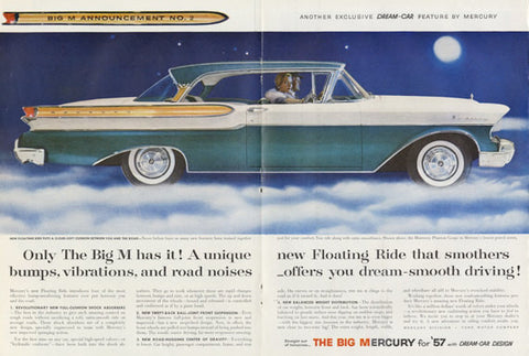 1957 Ford Mercury Car Vintage Ad Classic Automobile Advertisement Print Automotive Wall Art Decor - Unique Gift Idea