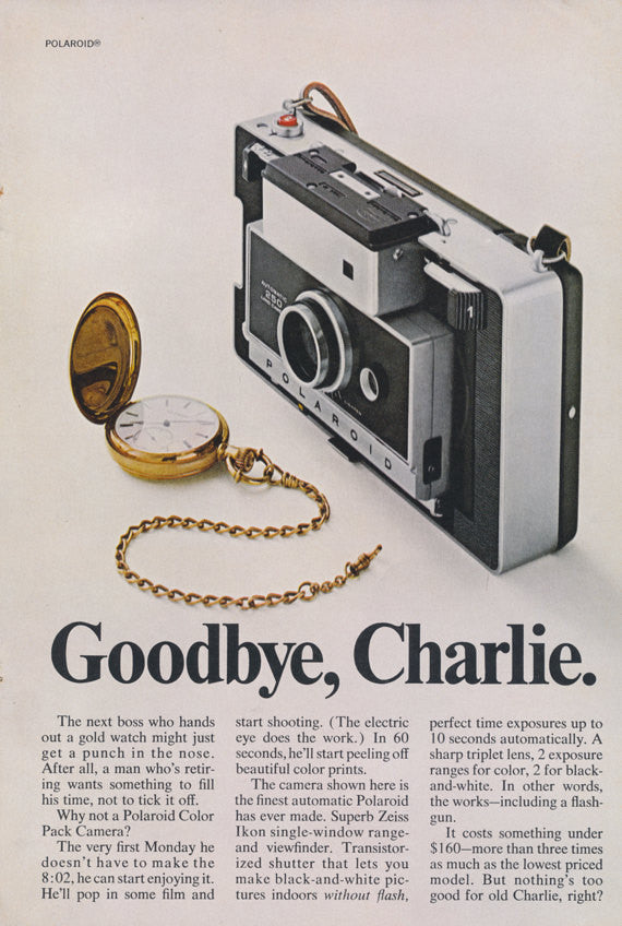 Polaroid Camera Ad 1968 Vintage Advertising Print, Wall Art Decor