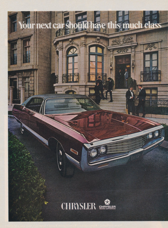 Chrysler Car Ad Original 1970 Vintage Advertising Print Wall Art Decor