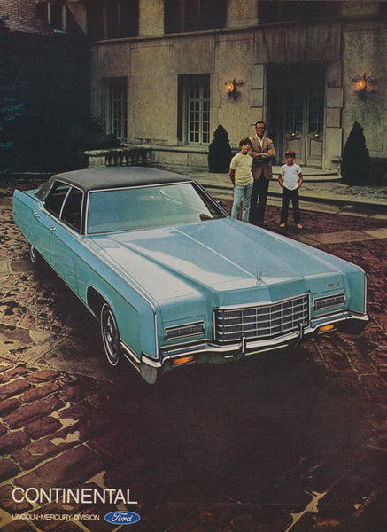 1972 Ford Lincoln Continental Car Photo Ad Vintage Advertising Print Wall Art Decor
