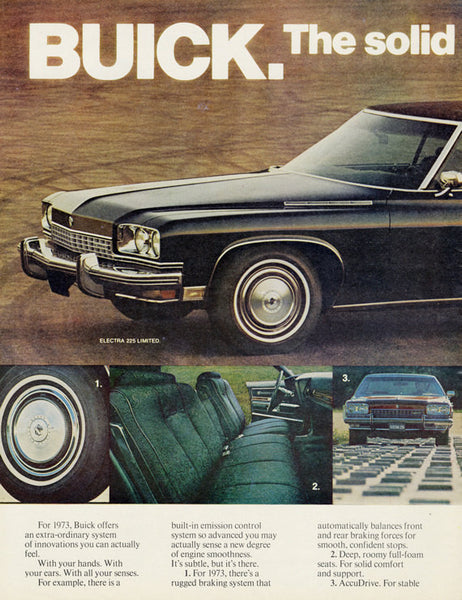 1973 Buick Electra 225 Limited Car Ad Vintage Advertising Wall Art Decor Print
