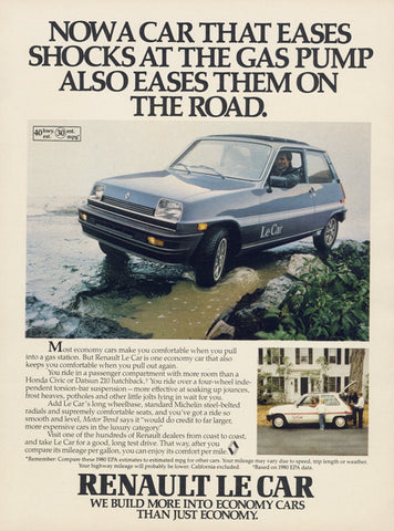 1980 Renault Le Car Ad Vintage Advertising Auto Photo Garage Shop Wall Art Decor Print