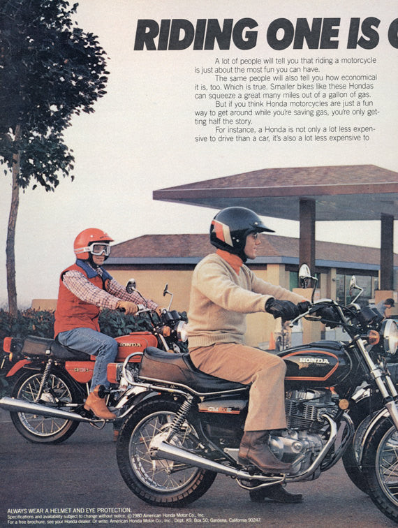 vintage honda motorcycle ads. 1980 honda motorcycle ad friends riding motorbikes photo vintage advertisement print wall art decor ads 0