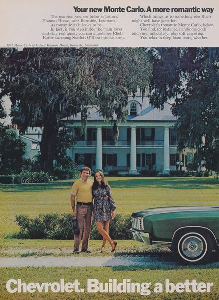 1972 Chevrolet Monte Carlo Ad Green Chevy Automobile Photo Vintage Car Advertising Wall Art Decor Print