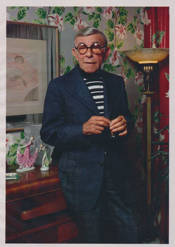 George Burns Comedian Celebrity Photo 1975 Magazine Page Clipping Wall Art Decor
