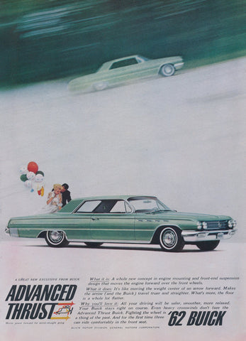 1962 Buick Classic Car Vintage Advertisement Wall Art Decor Print