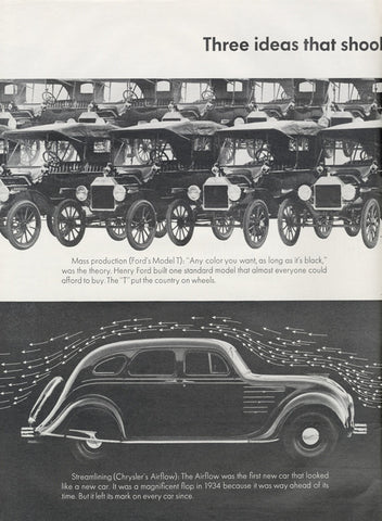 1963 Volkswagen Bug Ford Model T Chrysler Classic Cars Photo Vintage Advertisement Volkswagen Beetle Rare 2-Page Print Ad Wall Art