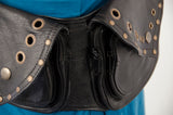 Leather Utility Double Pocket Belt