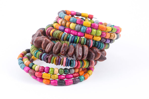Bracelet -Coil-Wood (see colors)