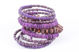 Bracelet -Coil-Wood (see colors) - Mishu Boutique