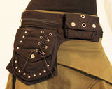 Canvas Biker Belt Silver
