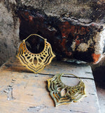 Winged Yantra Hoops - Mishu Boutique
