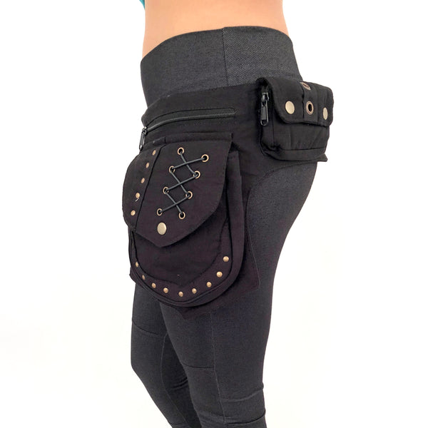 Canvas Brass Biker Belt - Mishu Boutique
