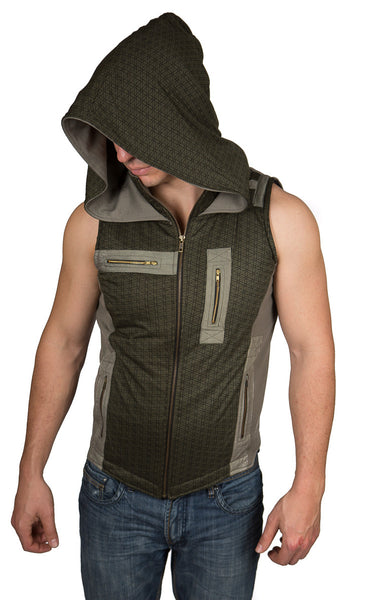 MR414G Geo Alien Vest - Mishu Boutique