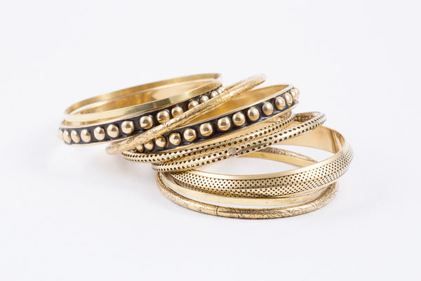 B-Bangle-Lg Stud - Mishu Boutique