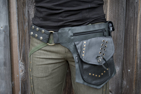Leather Biker Belt