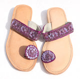Beaded Flower Sandal